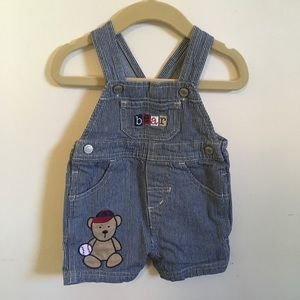 Carters engineer striped overalls